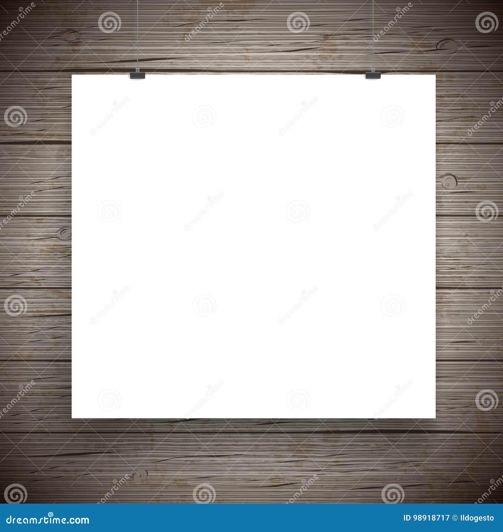 Fondo dell annata del manifesto della carta in bianco