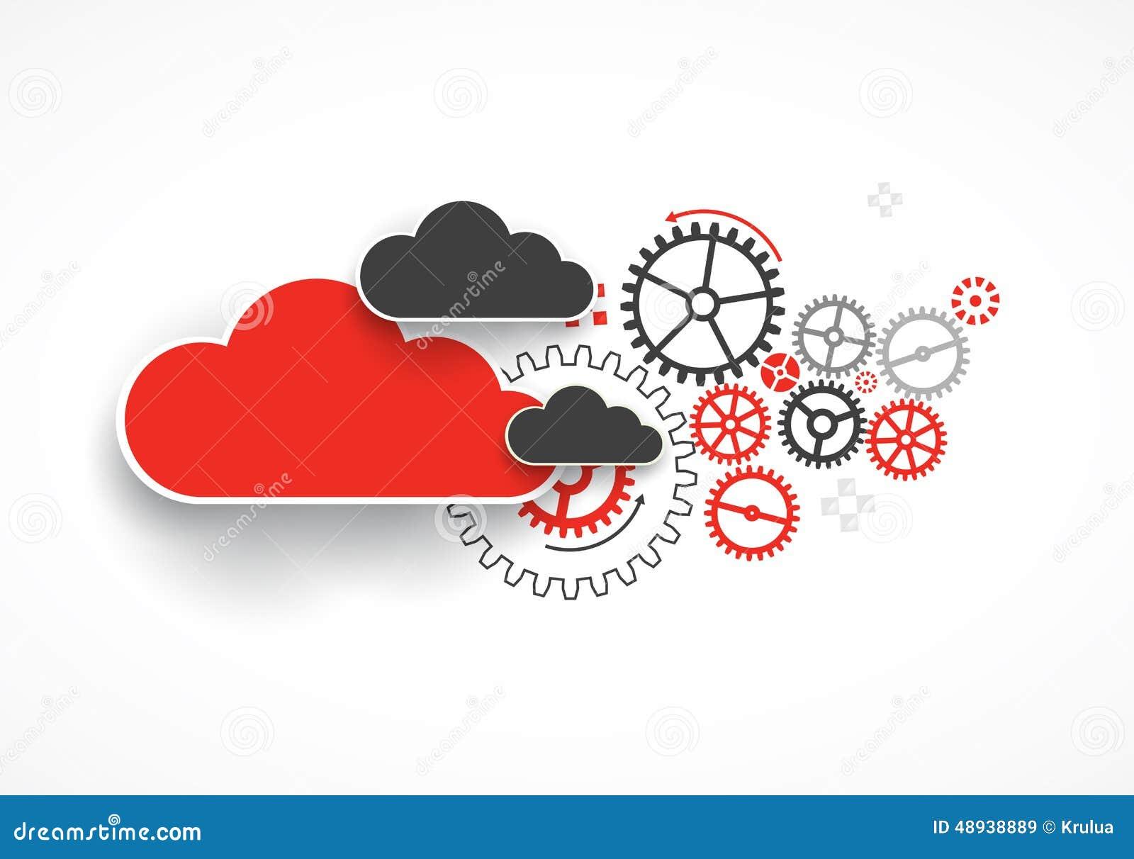 Fondo dell estratto di affari di tecnologia della nuvola di web