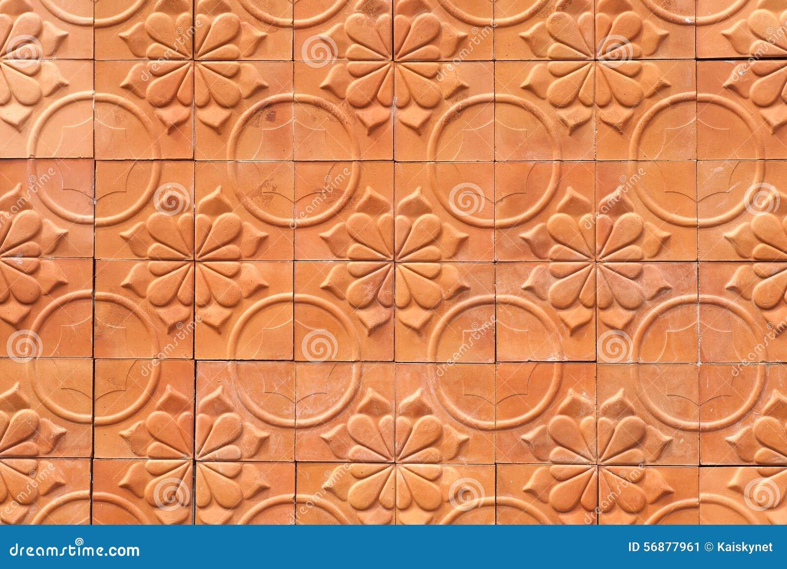 Fondo dell estratto di terracotta della parete di Brown