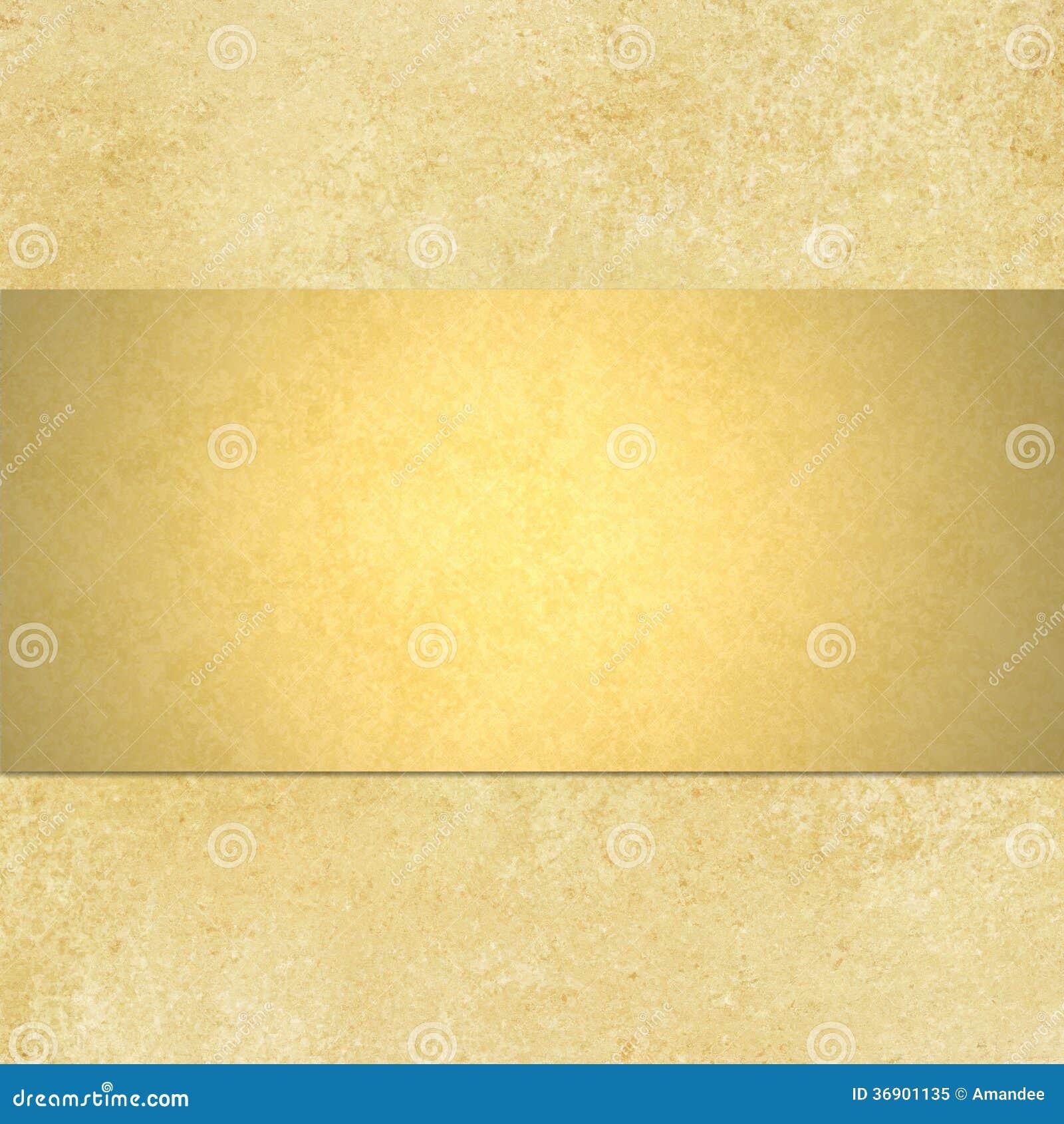 Fondo dell oro con la disposizione del nastro del blnk