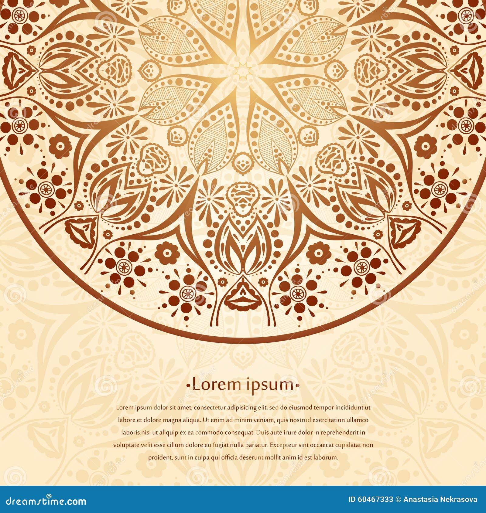Fondo Della Circolare Del Fiore Un Disegno Stilizzato Mandala