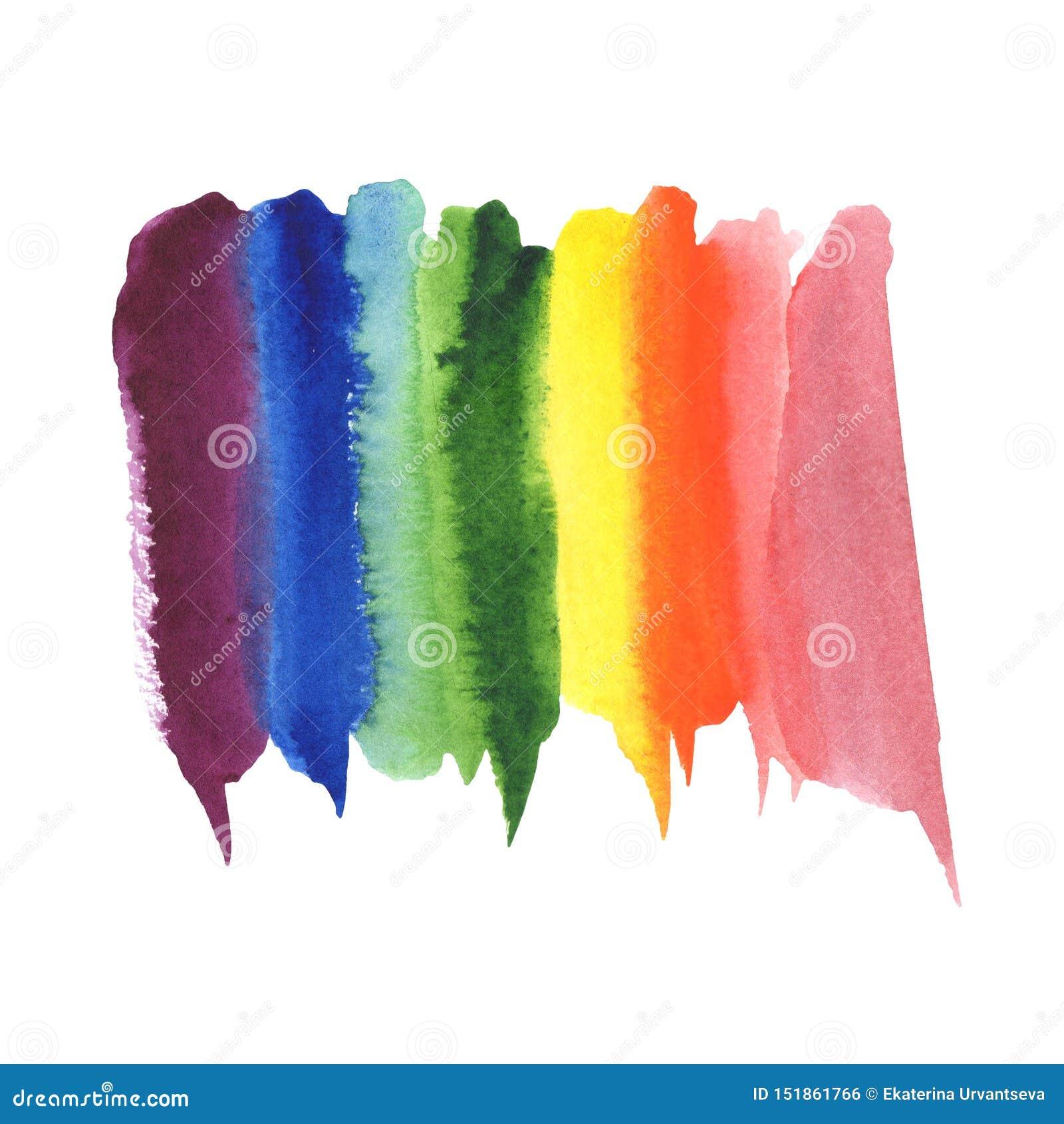 Fondo della macchia di colore dell arcobaleno dell acquerello dell estratto dell illustrazione Spettro di colori