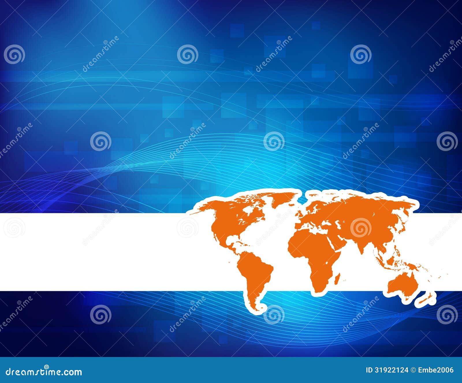 Fondo della mappa di mondo