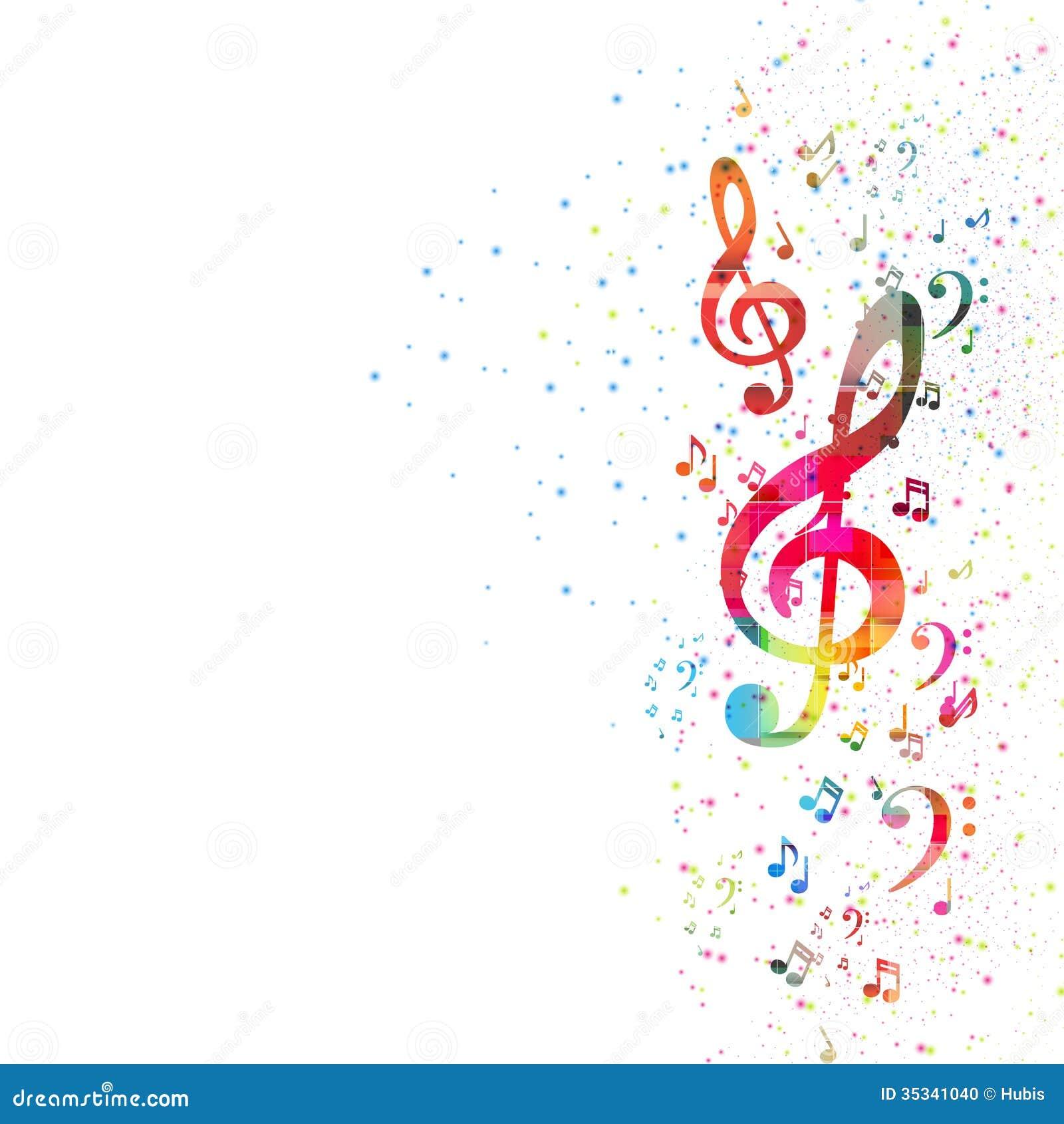 Fondo della nota di musica