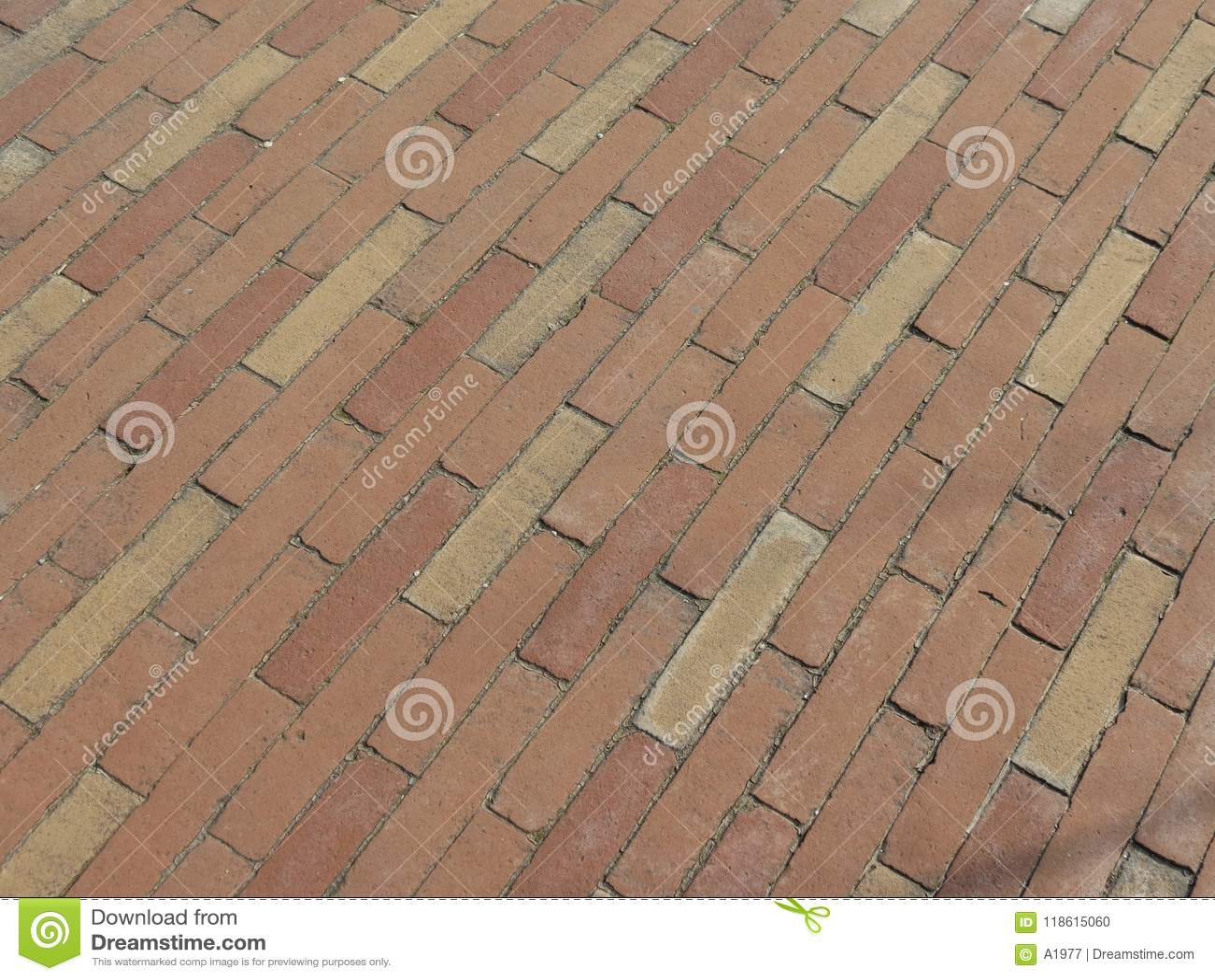 Fondo della pavimentazione in piastrelle del mattone rosso
