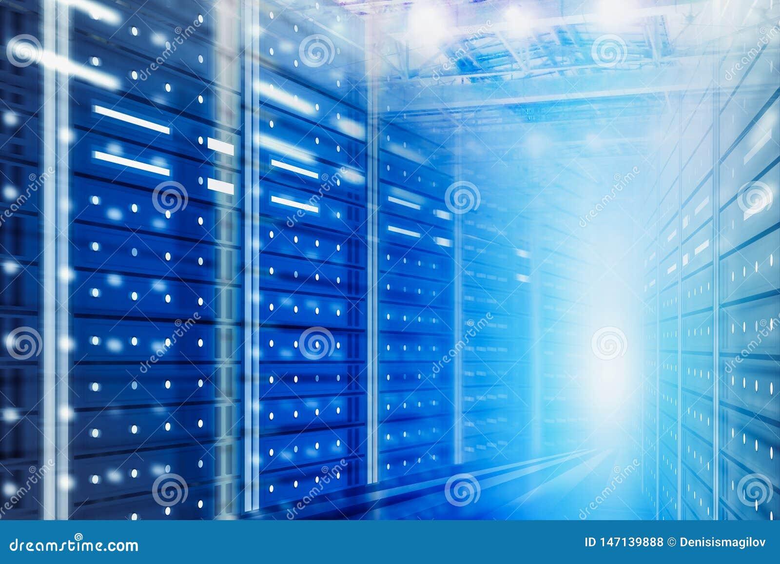 Fondo della stanza del server, grande concetto di dati