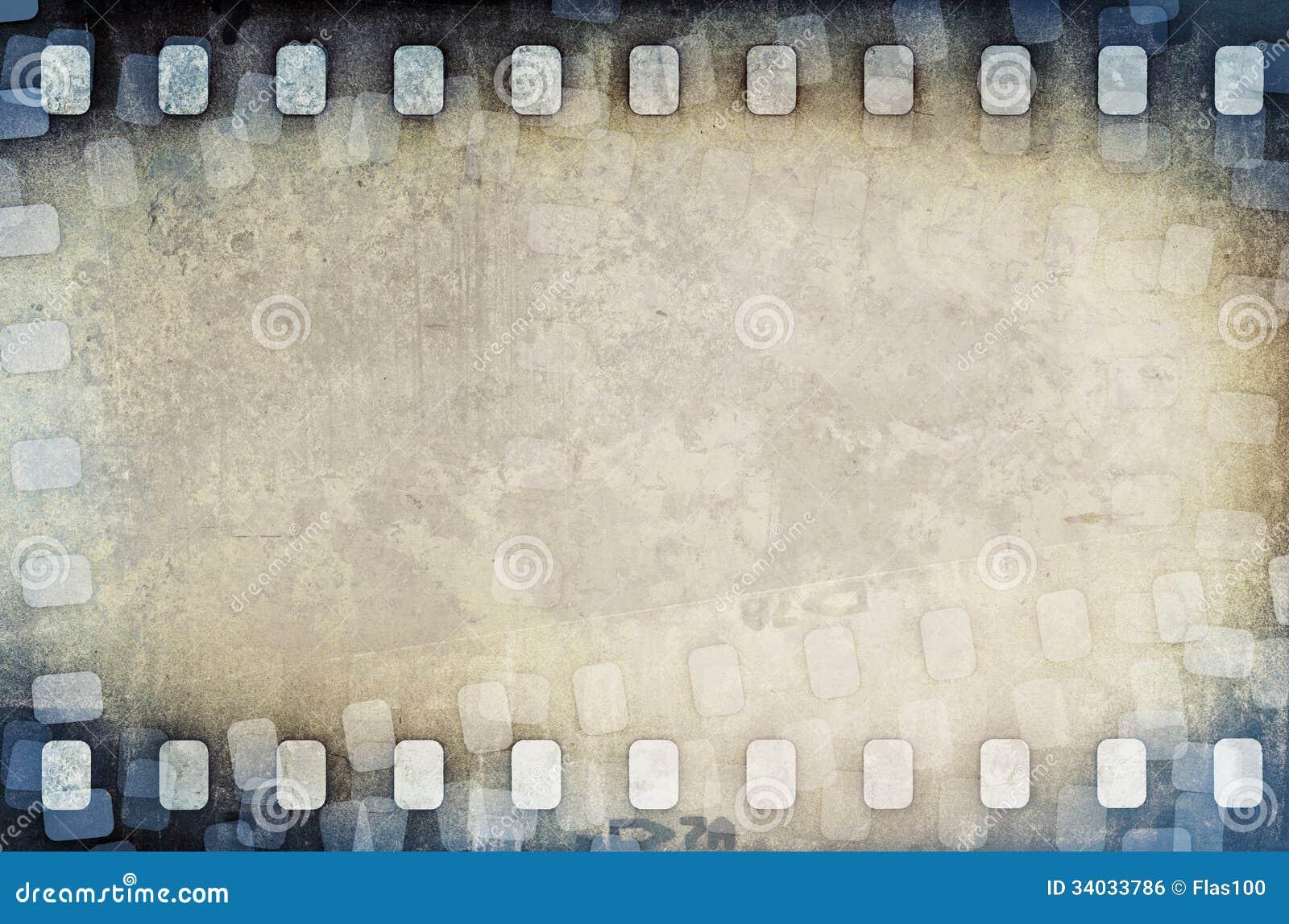 Fondo della striscia di pellicola graffiato lerciume