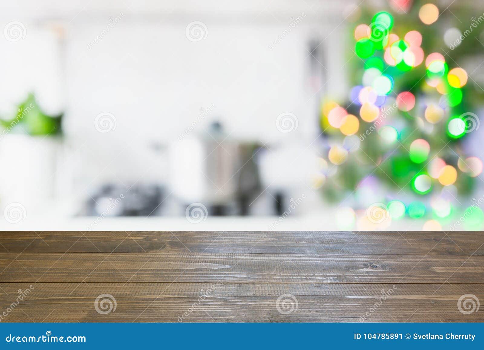 Fondo Della Tavola Di Natale Con L\'albero Di Natale In ...