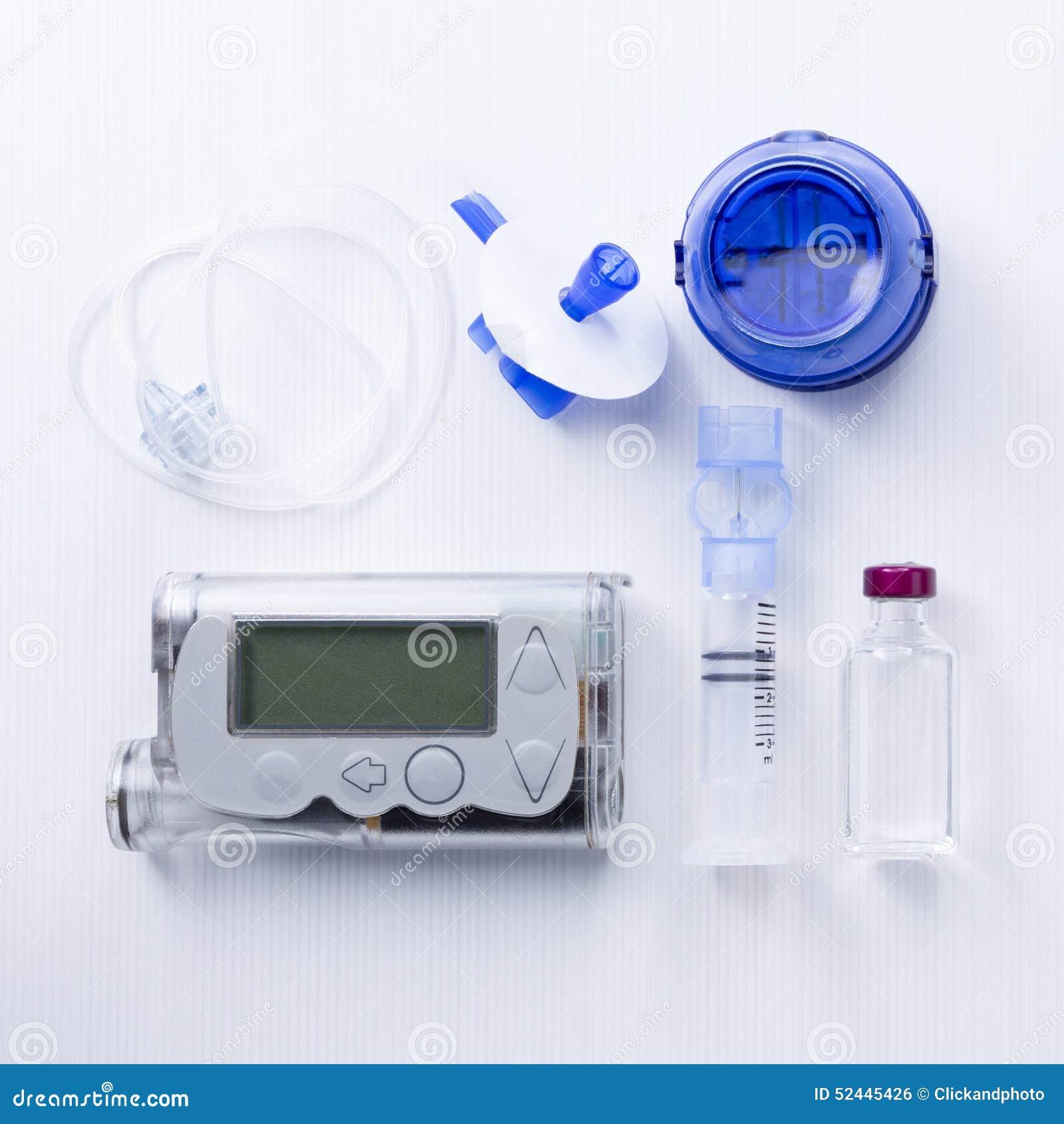 Fondo determinado de la bomba de la insulina