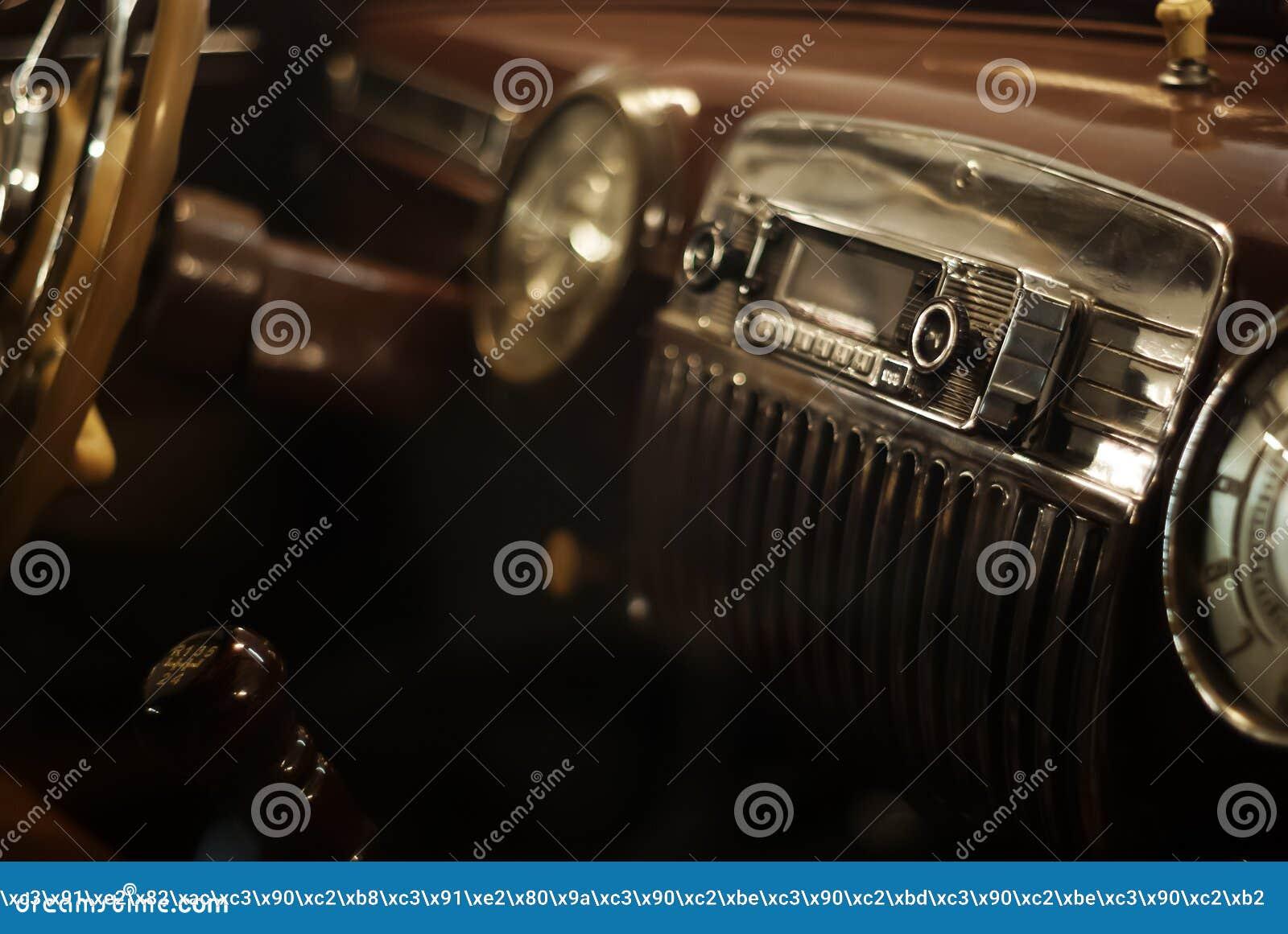 Fondo - dettaglio interno di un automobile d annata