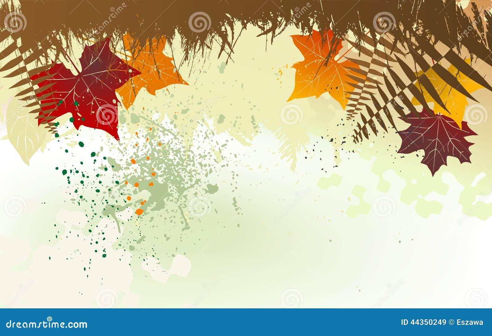 Fondo di autunno con uno spazio per un testo