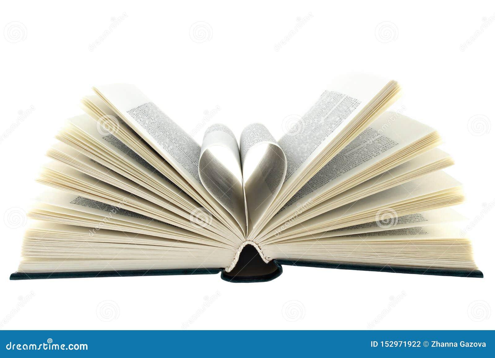 Fondo di bianco del libro aperto