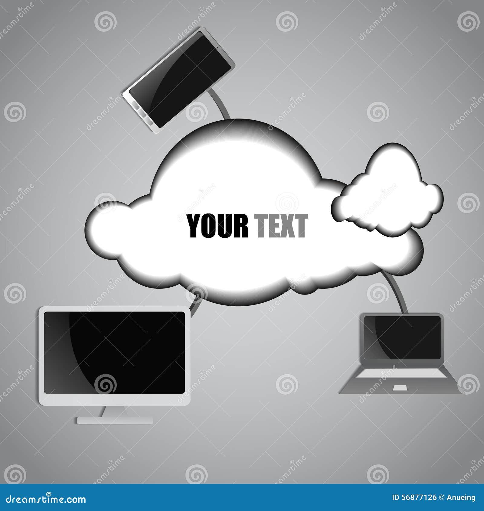 Fondo di calcolo della nuvola e del computer