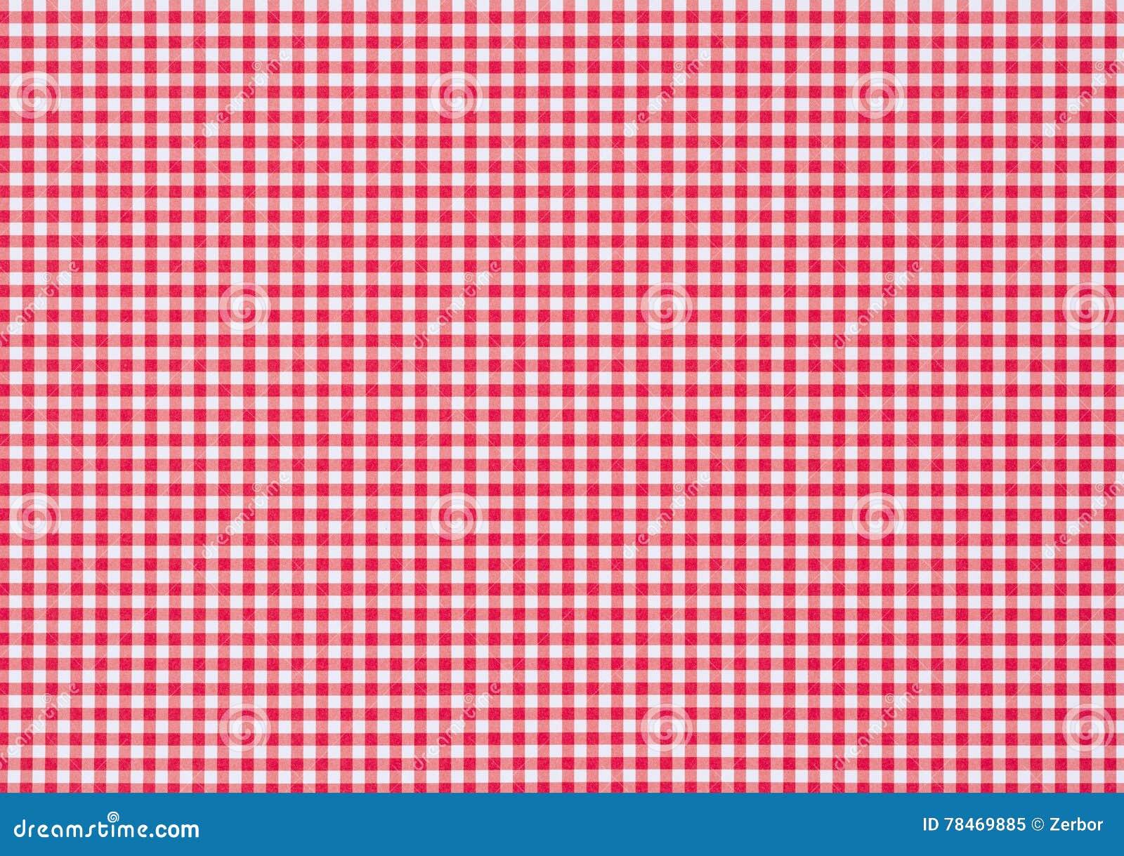 Fondo Di Carta A Quadretti Bianco Rosso Immagine Stock Immagine Di