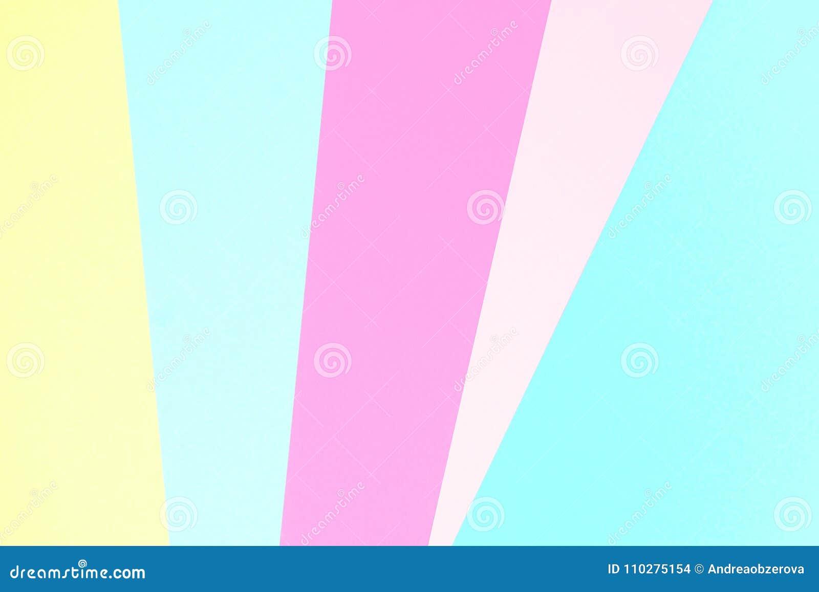 Fondo di carta di struttura colorato pastello astratto Forme e linee geometriche minime nei colori pastelli