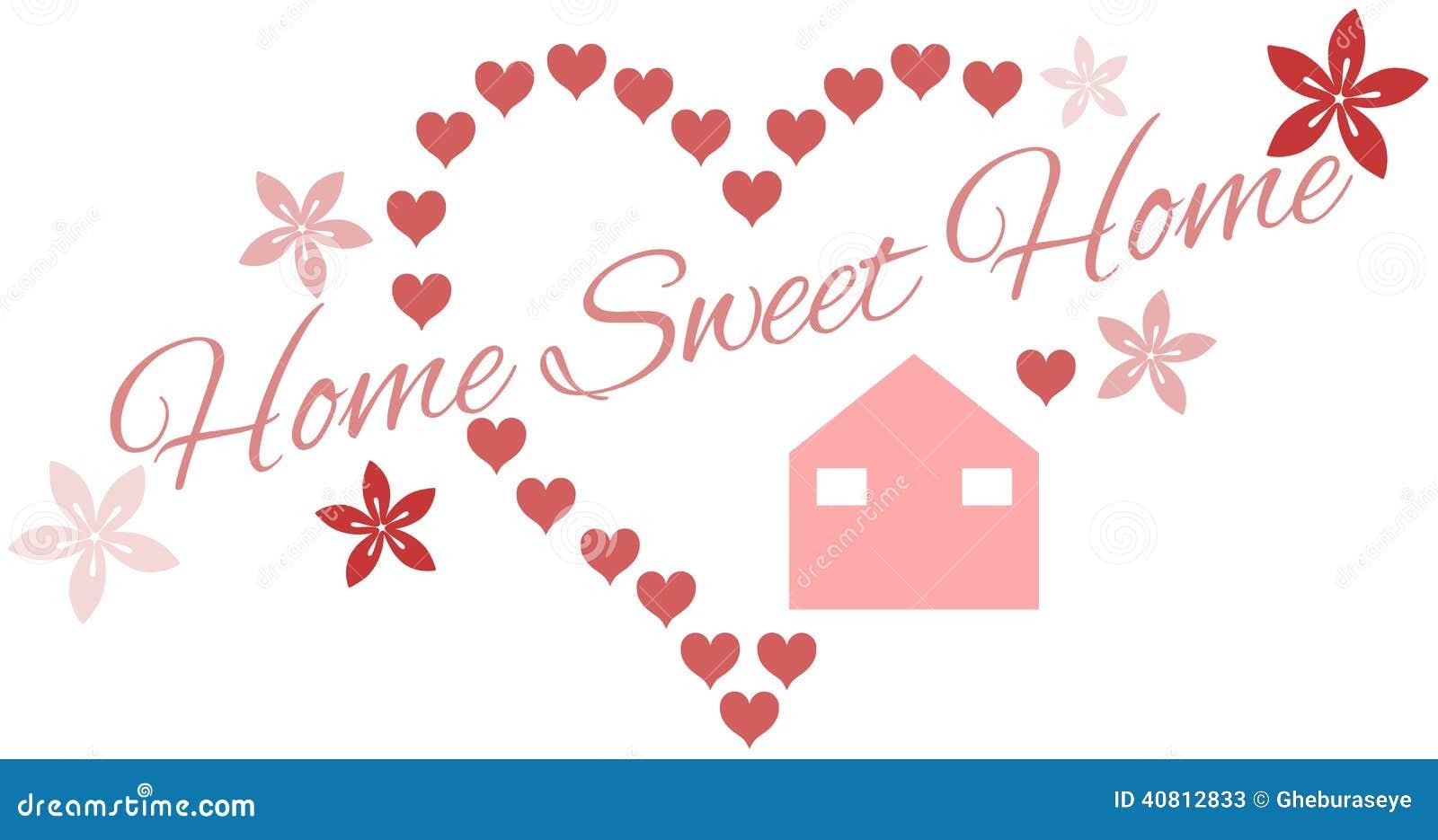 Fondo di casa dolce casa illustrazione vettoriale for Casa dolce
