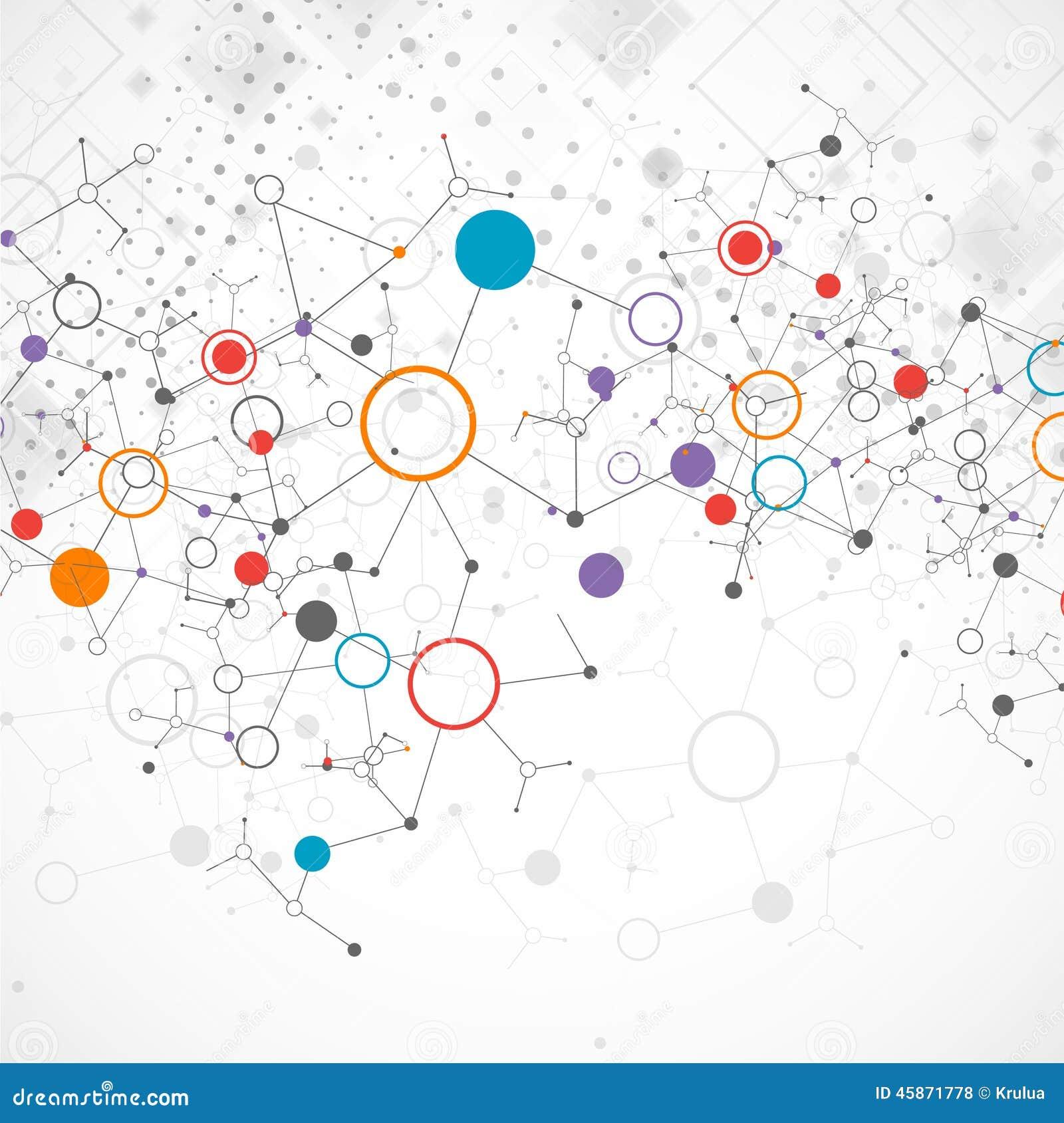 Fondo di comunicazione di tecnologia di colore della rete