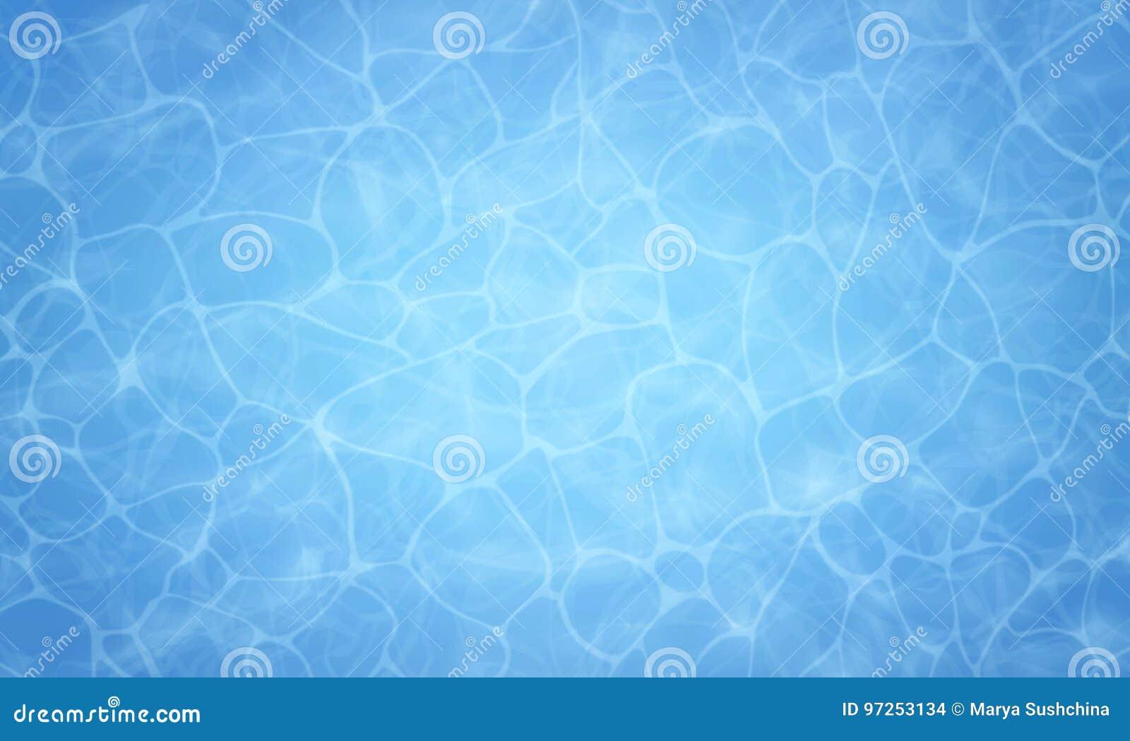 Fondo di estate Struttura della superficie dell acqua Riunisca l acqua Vista ambientale Fondo della natura dell illustrazione di