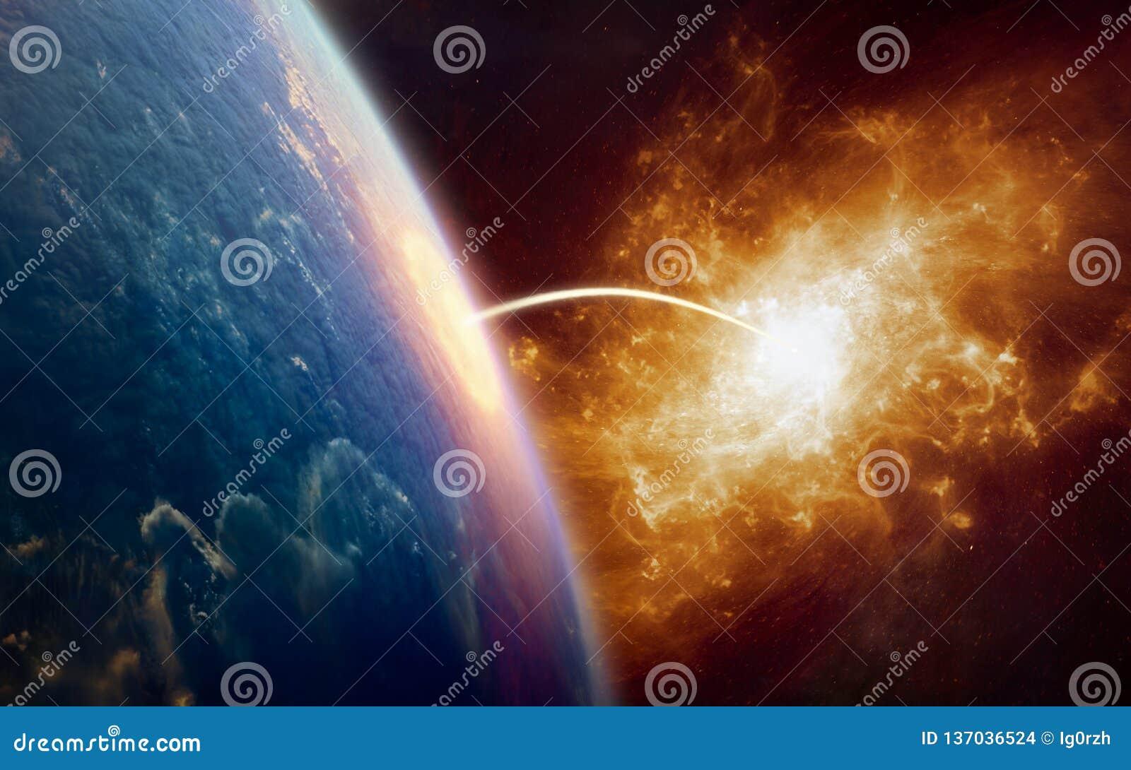 Fondo di fantascienza - teletrasporto ad un altro mondo