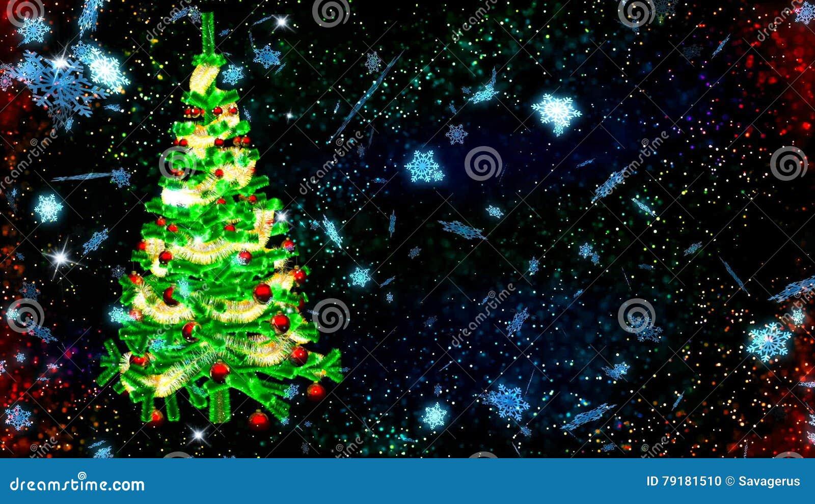Albero Di Natale Hd.Fondo Di Hd Loopable Con L Albero Di Natale Piacevole Stock Footage Video Di Celebrazione Decorazione 79181510