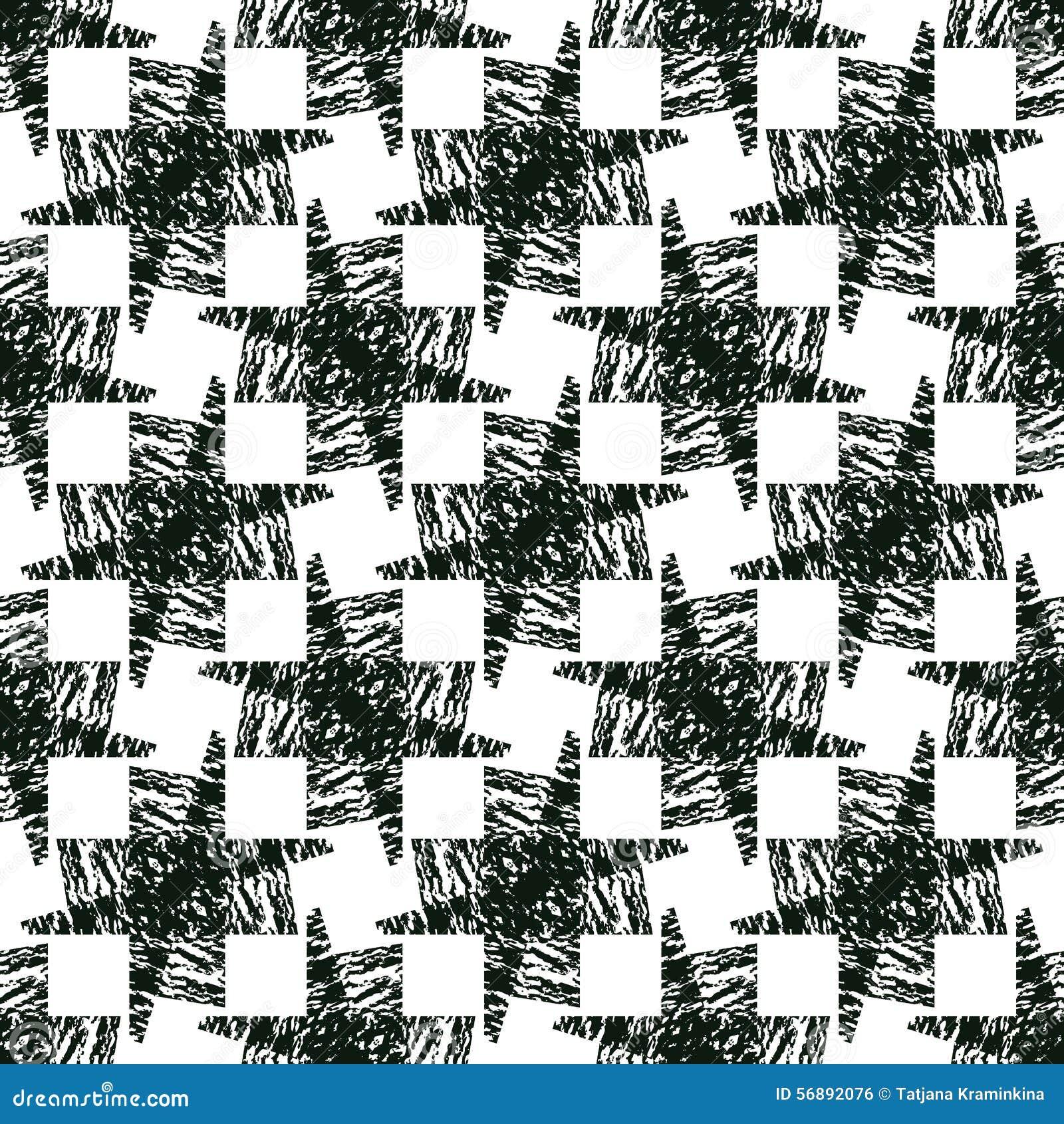 Fondo di illusione Senza cuciture monocromatico astratto