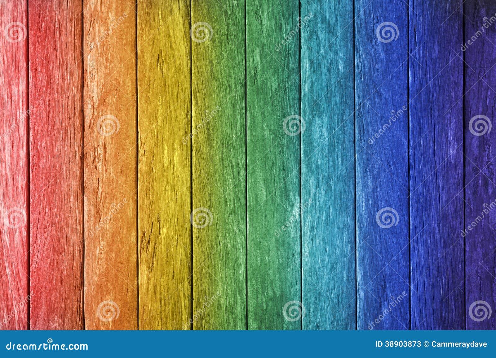 Fondo di legno dell arcobaleno