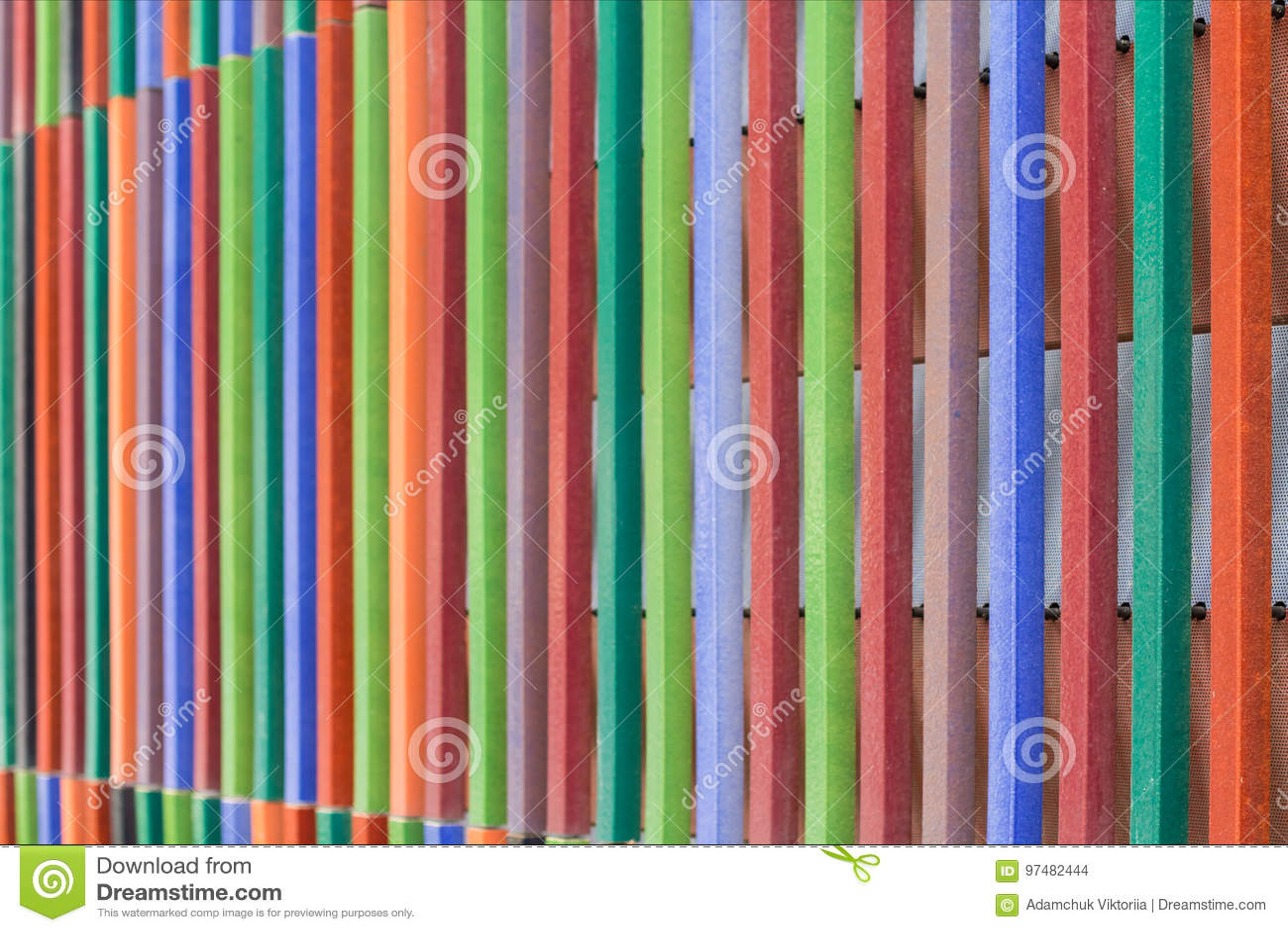 Fondo di legno di arte Carta da parati variopinta creativa Vecchia struttura di legno ristabilita Il recinto di superficie Panel