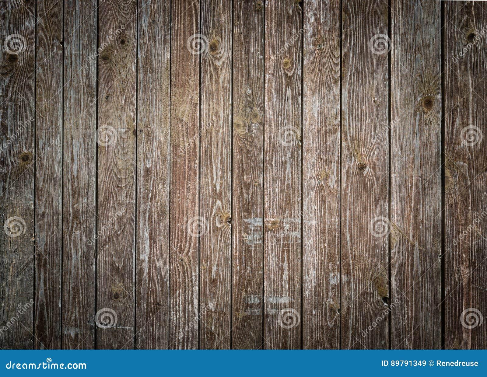 Fondo di legno rustico delle plance con vignettatura piacevole