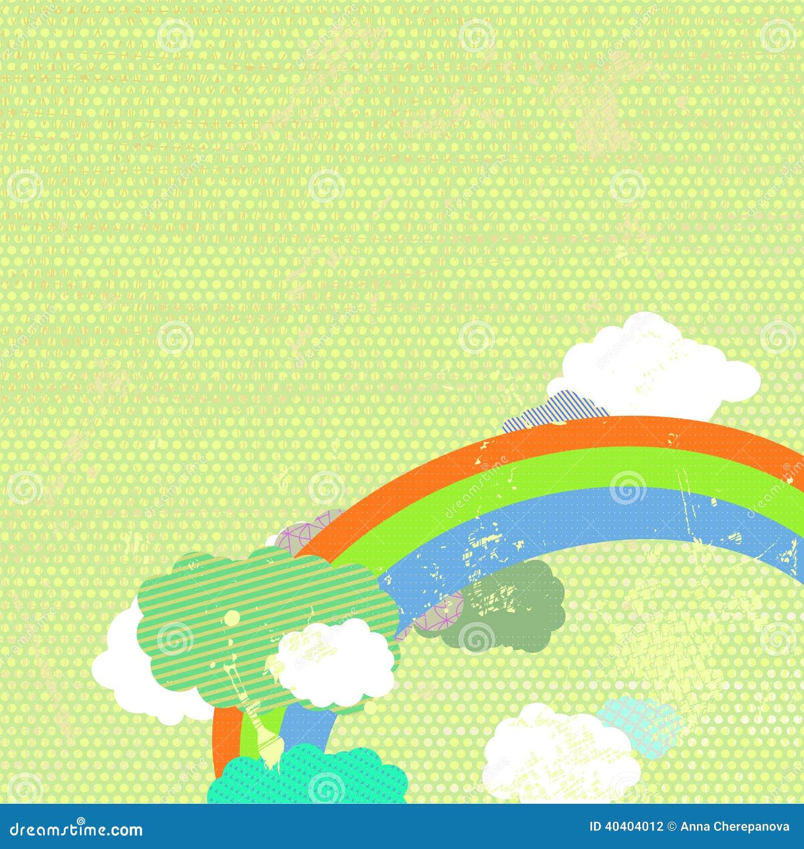 Fondo di lerciume con l arcobaleno