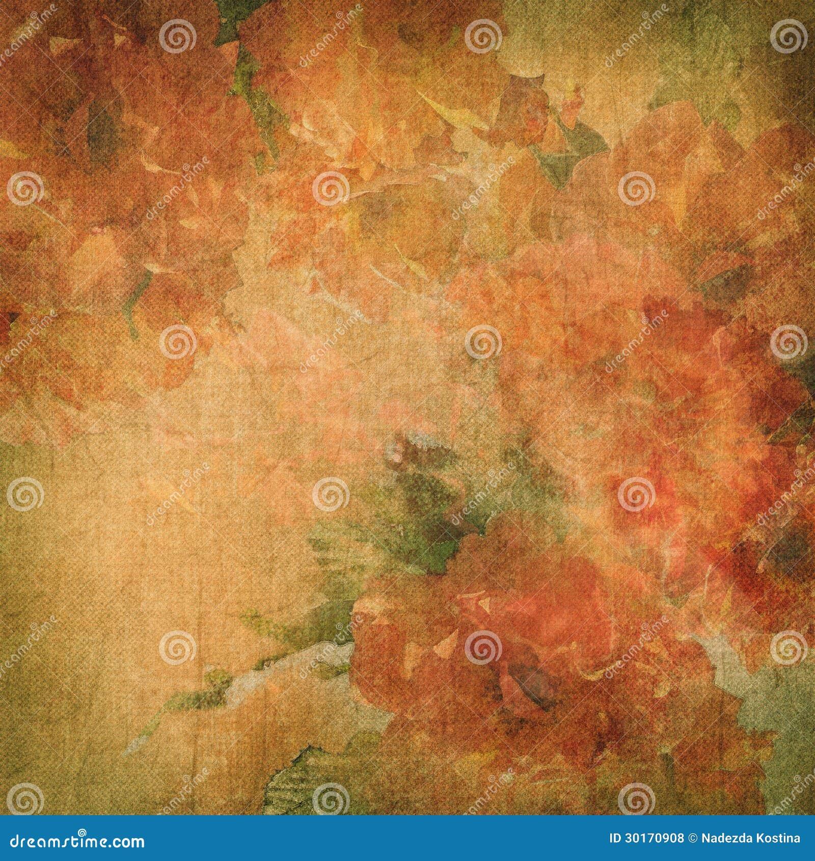Fondo dell annata con i fiori (rose)