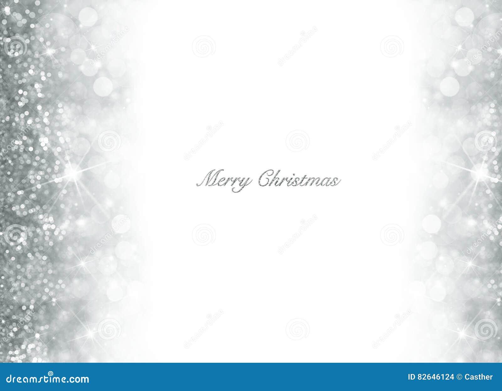 Fondo di Natale di Bokeh con scintillio d argento