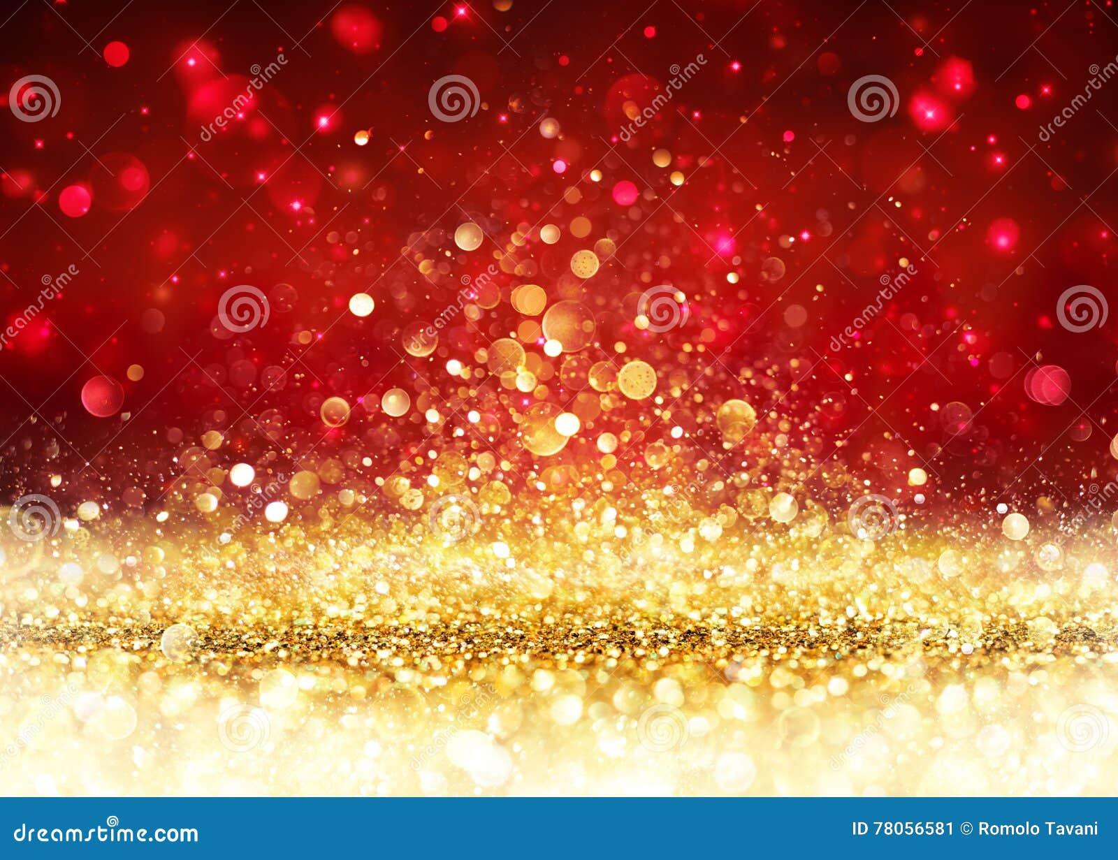 Fondo di Natale - scintillio dorato