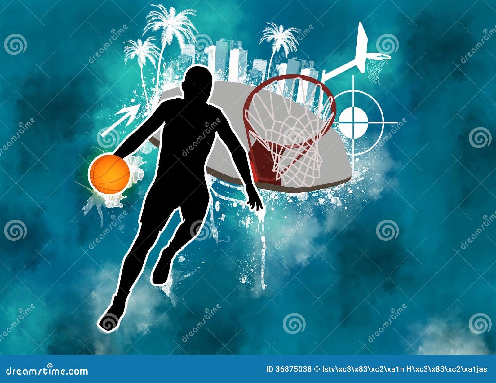 Download Fondo di pallacanestro illustrazione di stock. Illustrazione di rete - 36875038