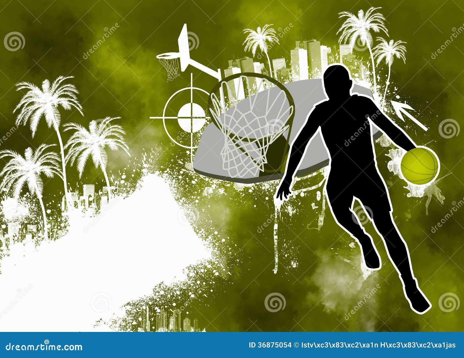 Download Fondo di pallacanestro illustrazione di stock. Illustrazione di goccia - 36875054
