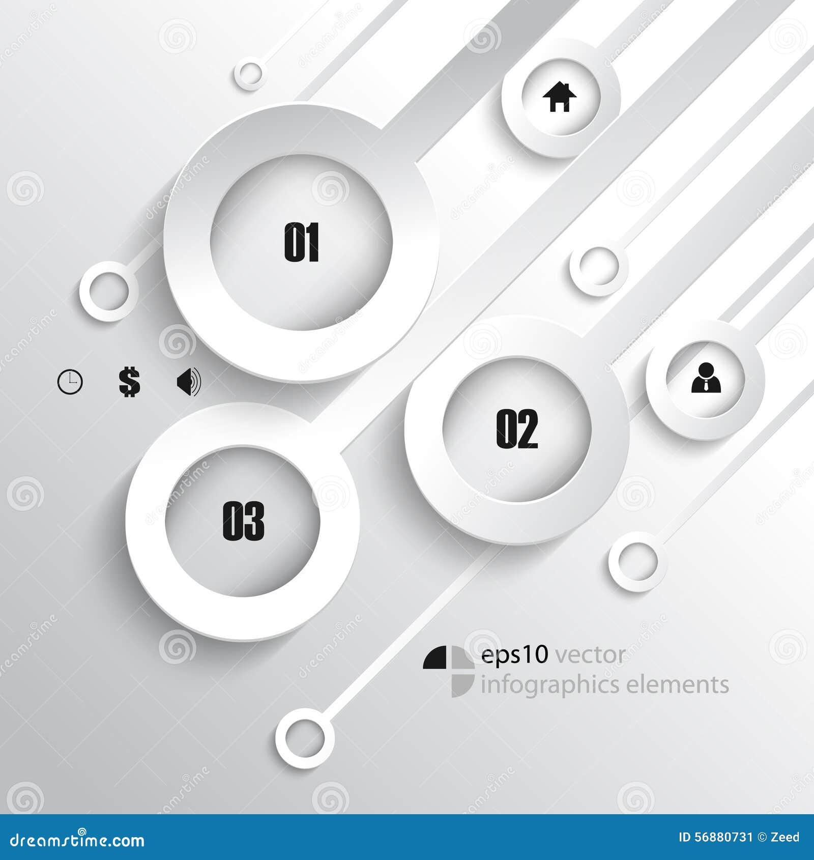 Fondo di sovrapposizione di infographics degli anelli di vettore