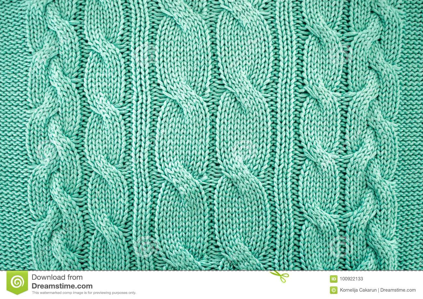 Fondo di struttura del maglione tricottato verde
