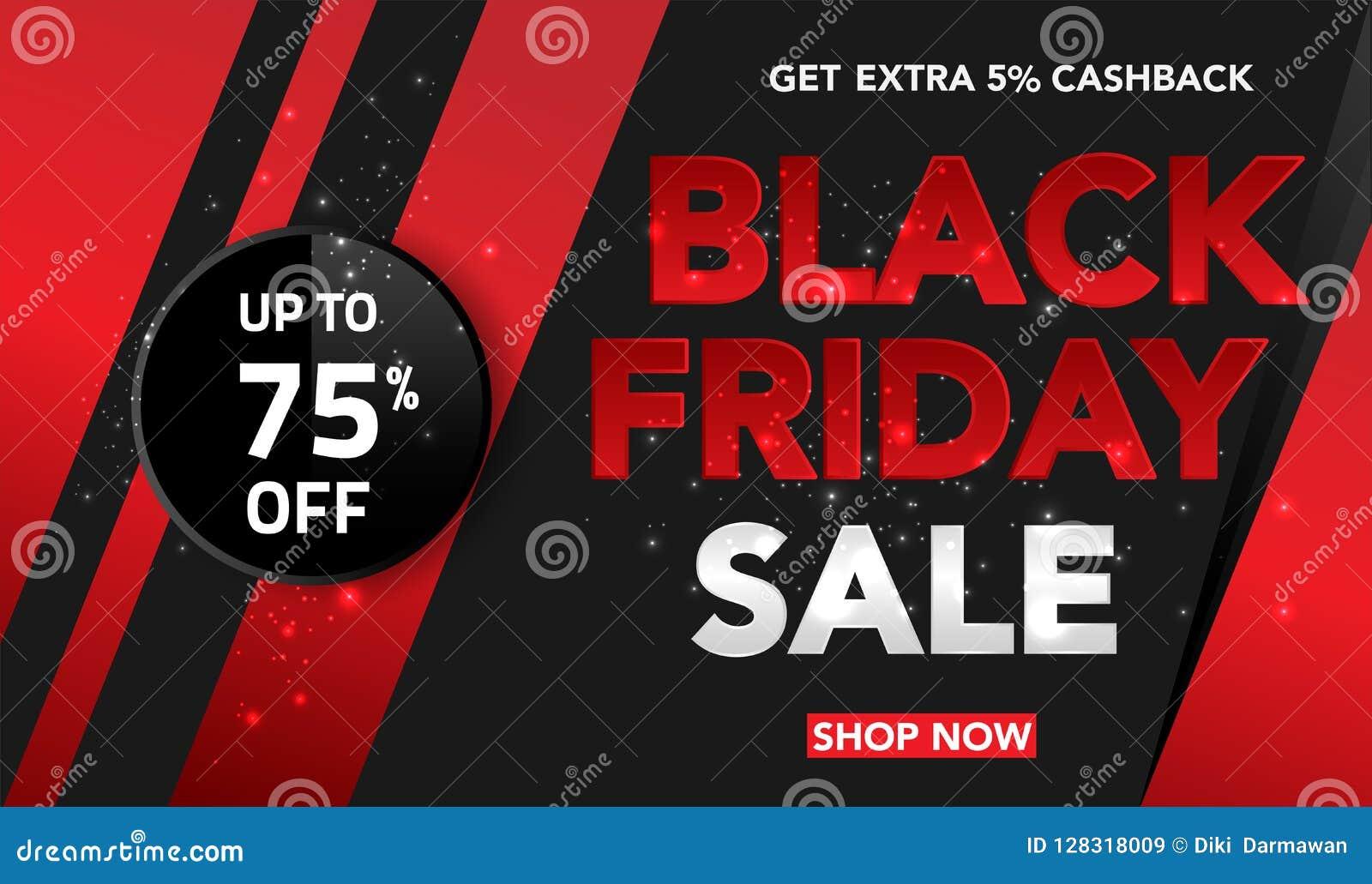 Fondo di vendita di Black Friday per l affare, la promozione, la pubblicità ed il commercio Illustrazione di vettore