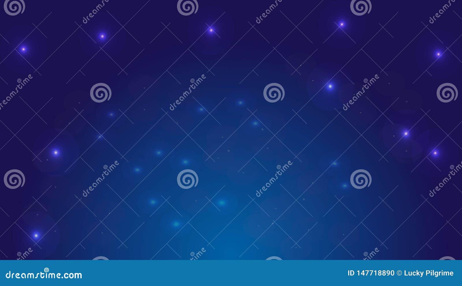 Fondo di vettore di cielo notturno