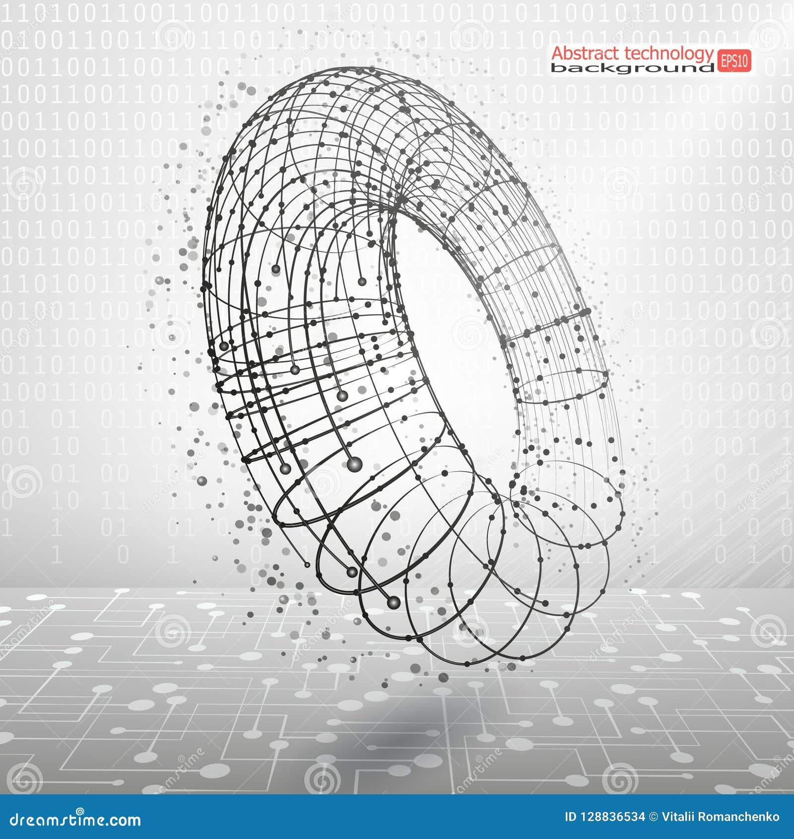 Fondo di vettore Movimento e sviluppo Rivoluzione Industriale Comunicazione astratta di tecnologia Concetto