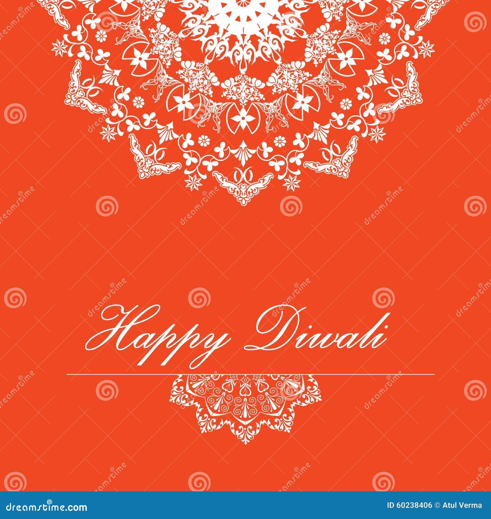 Fondo di vettore per Diwali con progettazione alla moda di rangoli del modello