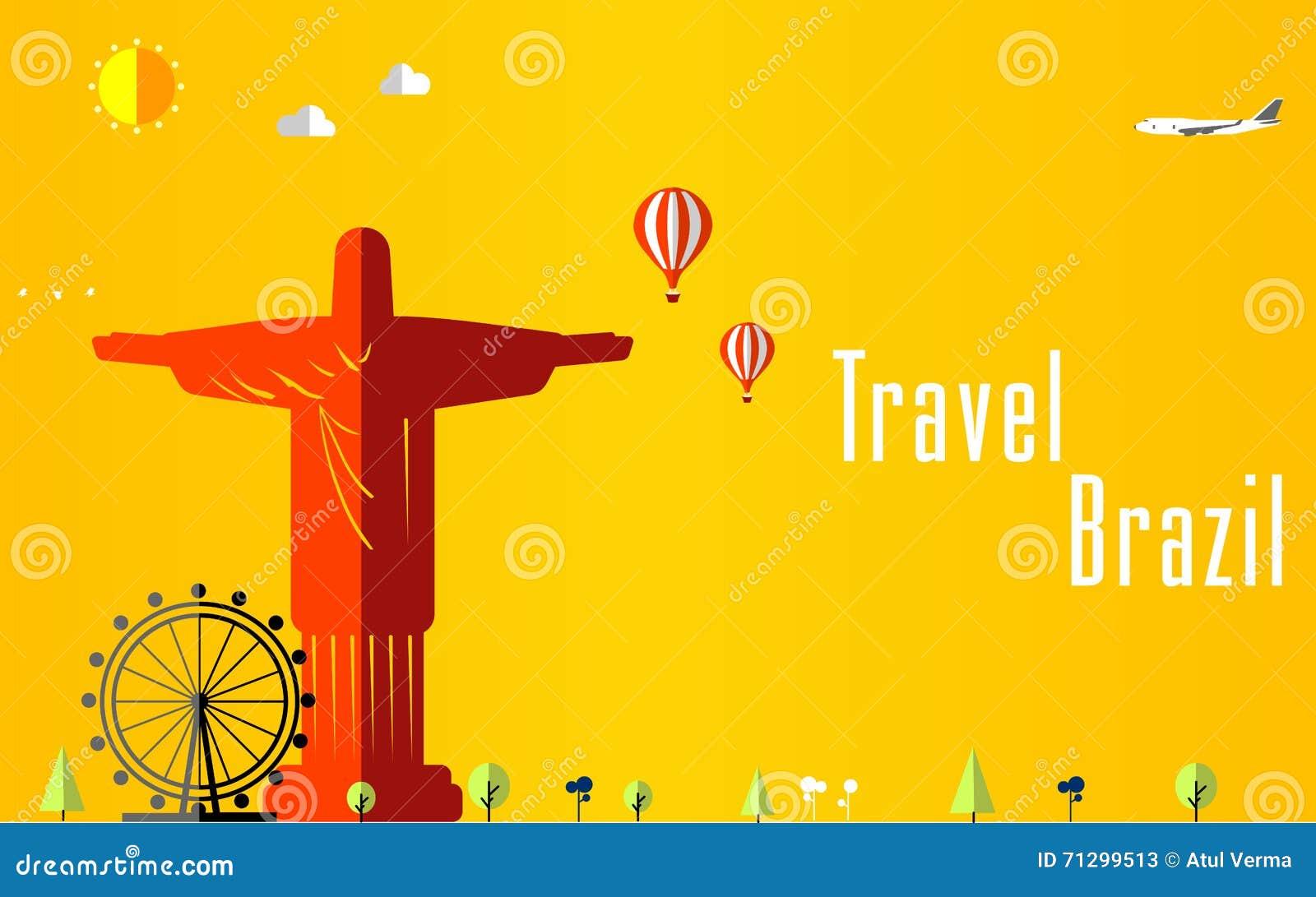 Fondo di voli e di viaggio per il turista, le feste e la vacanza, fondo di viaggio del Brasile