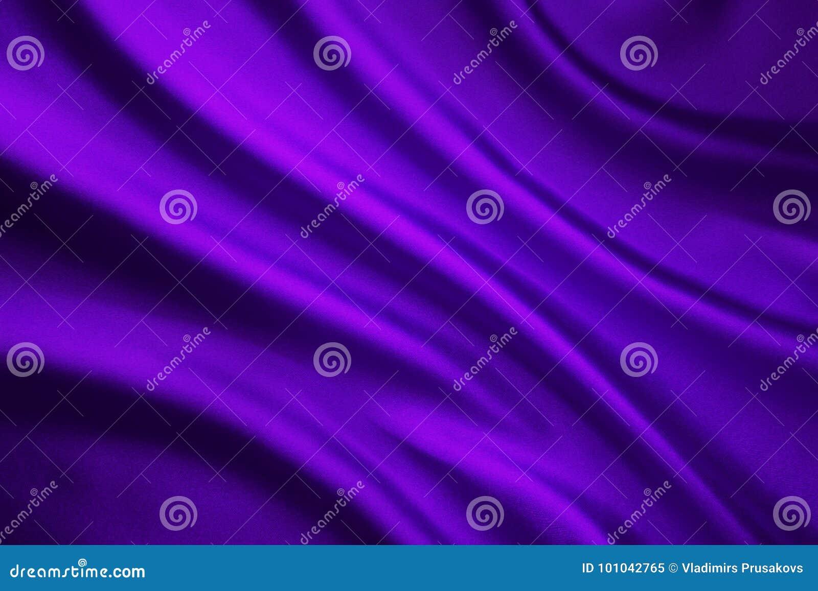 Fondo di Wave del tessuto di seta, panno porpora astratto del raso
