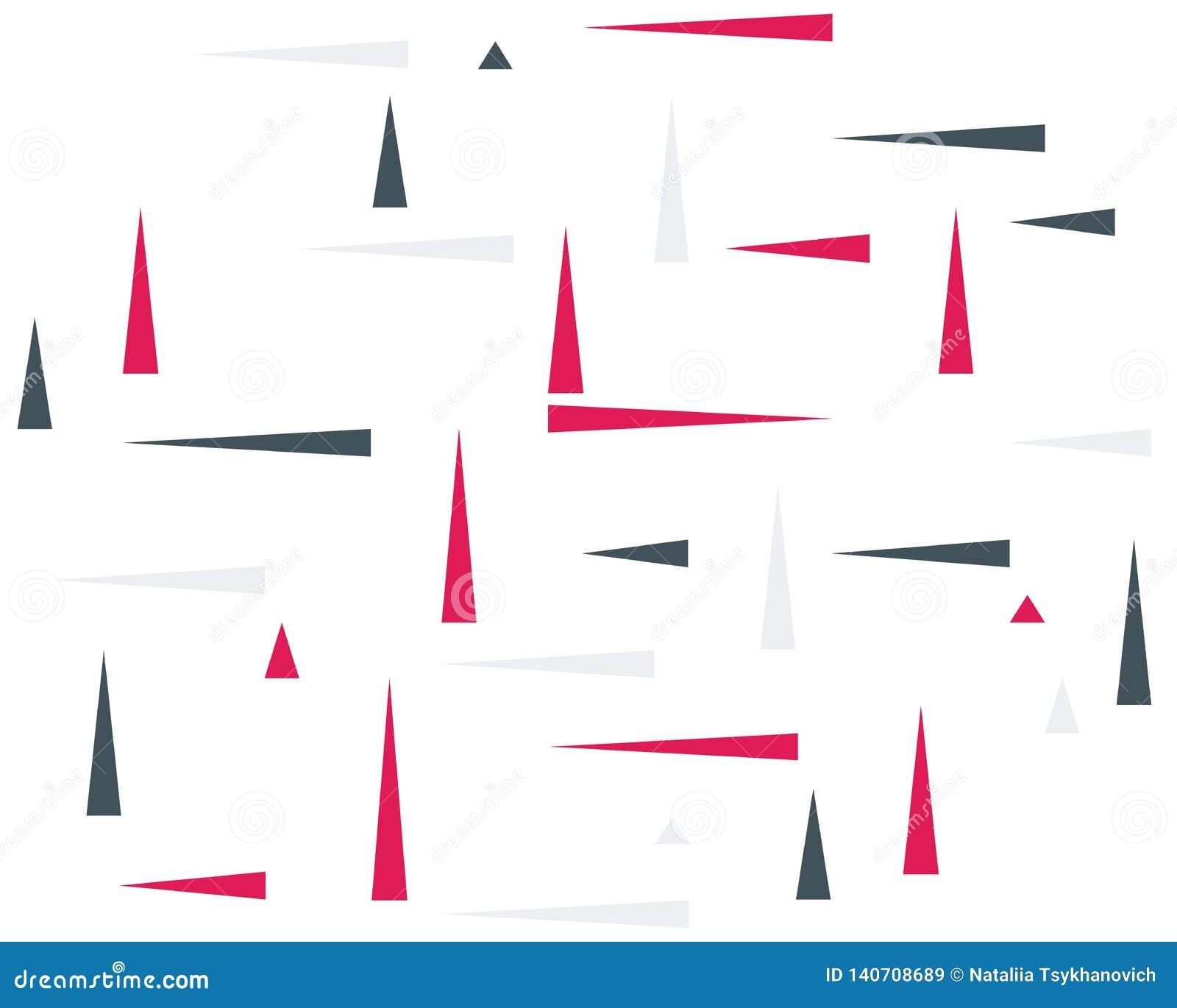 Fondo dinamico che consiste dei triangoli colorati, puntatori, frecce, simbolo del movimento