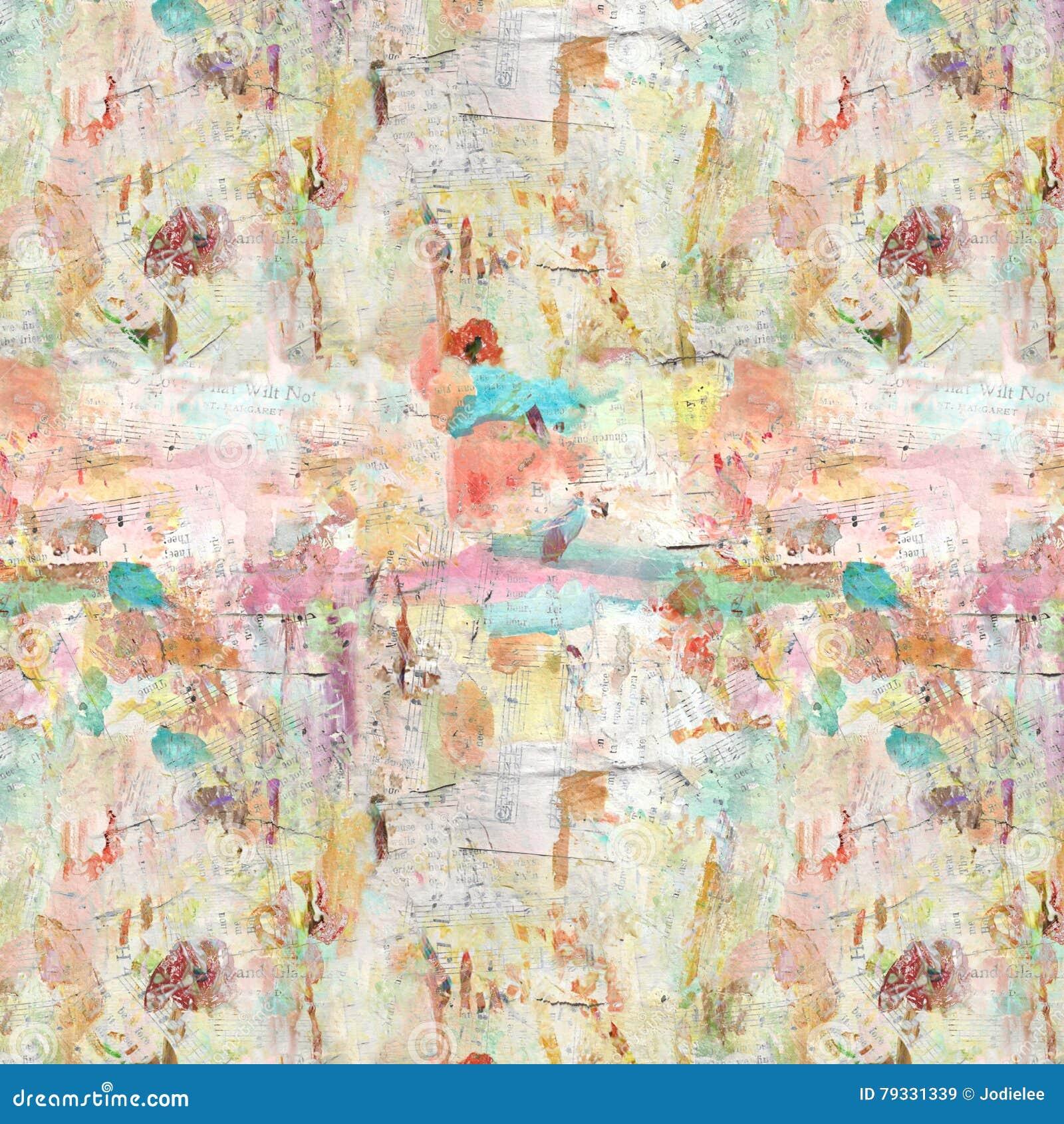 Fondo dipinto artistico afflitto Grungy del collage