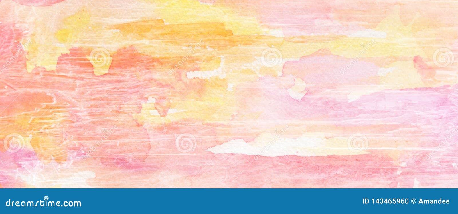 Fondo dipinto con vecchia struttura di legno incrinata e granulare di lerciume in porpora di rosa ed arancio gialli