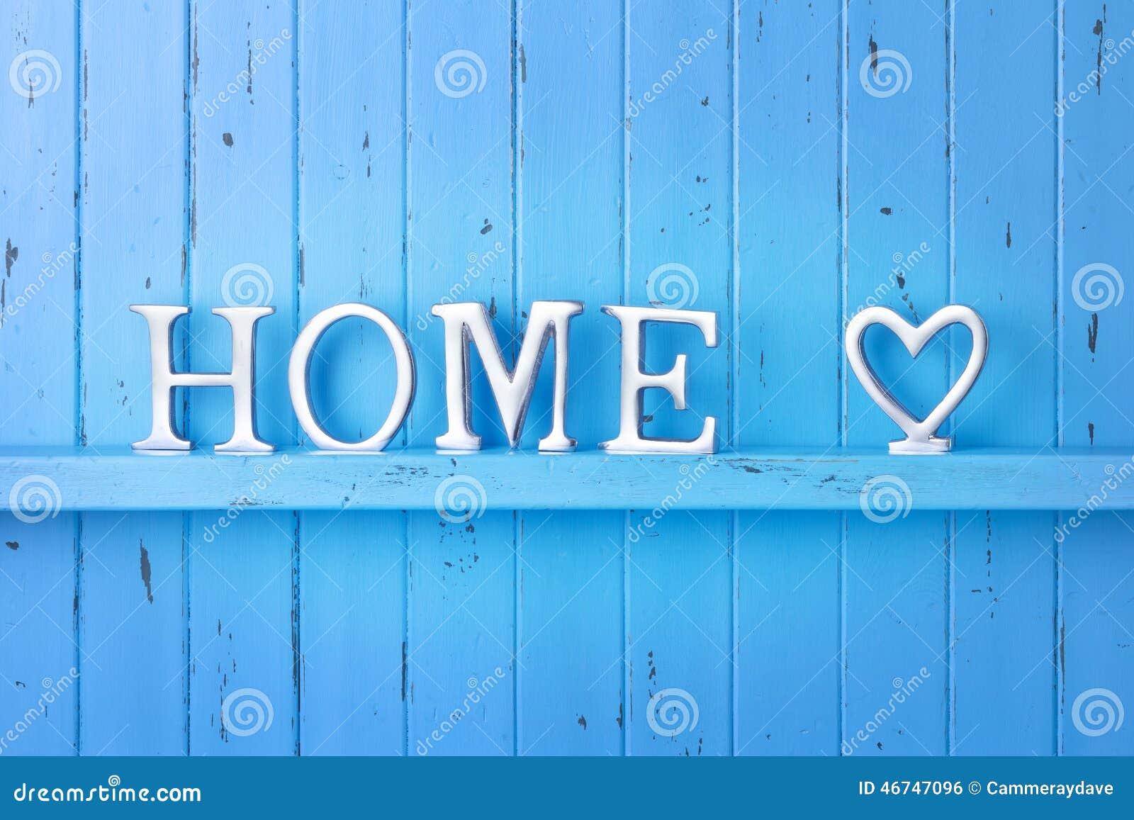 Fondo domestico del blu di amore