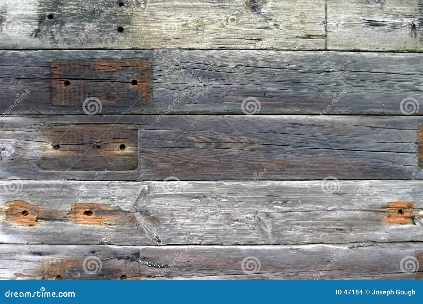 Fondo, durmientes de madera