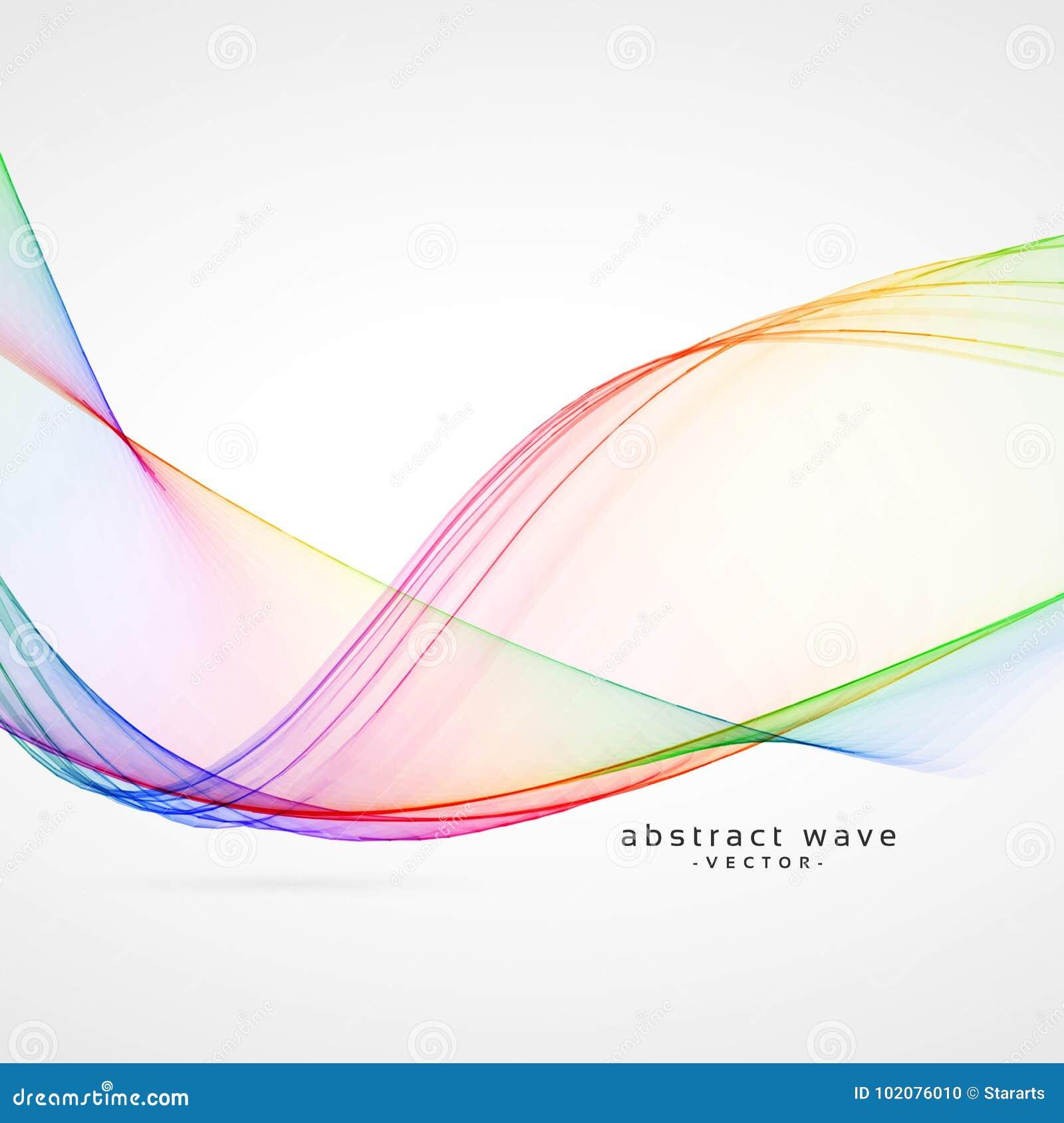 Fondo elegante dell onda dell estratto di colore dell arcobaleno