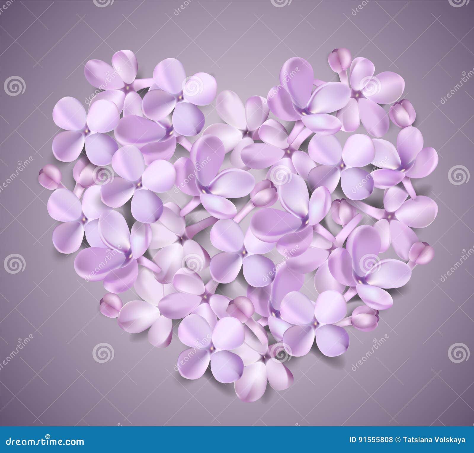 Fondo En Colores Pastel Con Las Flores De La Lila Ilustracion Del - Color-lila-pastel