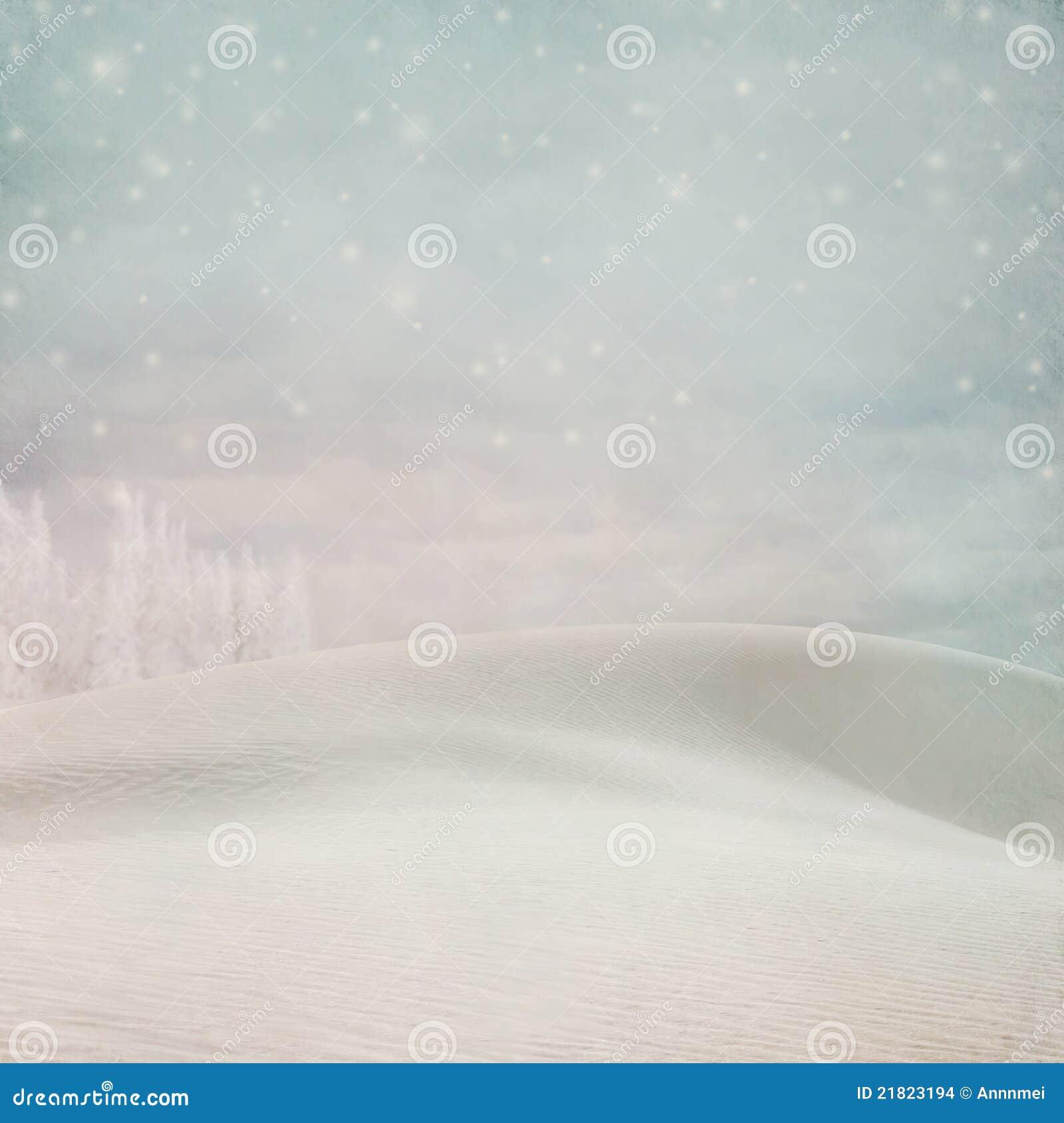 Fondo en colores pastel de la nieve del invierno